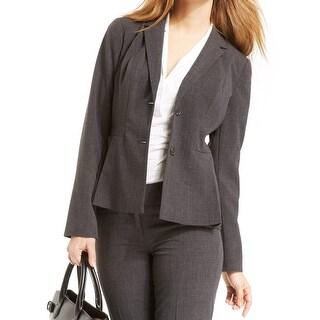 Laundry By Shelli Segal NEW Gray Women's Size 4 Two-Button Blazer