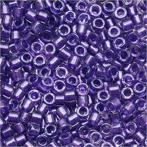 Miyuki Delica Seed Beads 11/0 Sparkle Purple Lined Crystal DB906 7.2 Grams