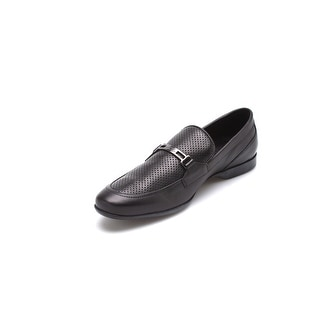 Versace Collection Men's Leather Loafer Shoes Black