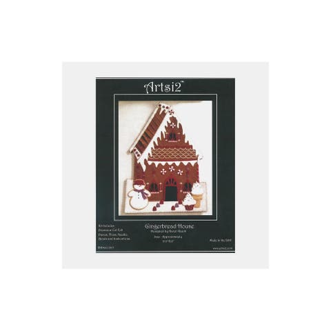 Artsi2 PC Wool Felt Kit Gingerbread House