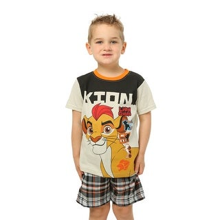Lion Guard Kion Brown Toddler T-Shirt with Plaid Shorts