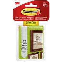 White 12 Sets/Pkg - Command Large Picture Hanging Strips