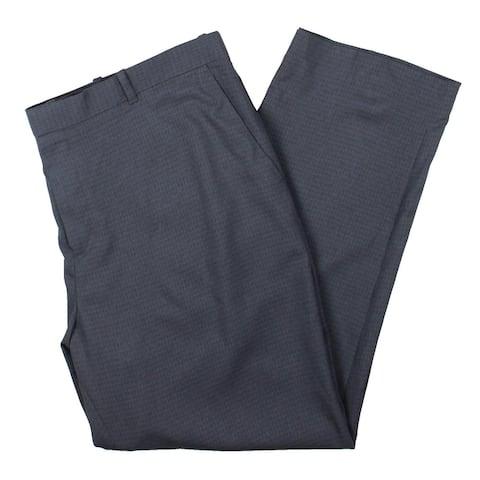 Perry Ellis Portfolio Mens Dress Pants Modern Fit Stretch - Navy - 42/30