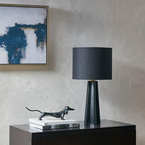 Athena Black Ceramic table Lamp by Martha Stewart