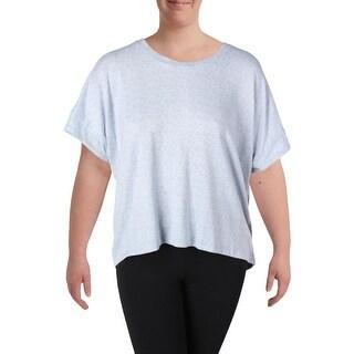 Nuit Rouge Womens Plus Sleep Shirt Knit Heathered