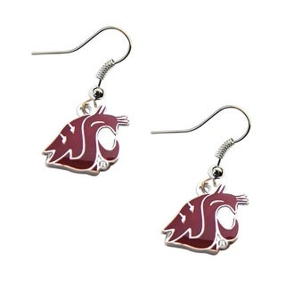 Washington State Cougars Dangle Logo Earring Set NCAA Charm Gift
