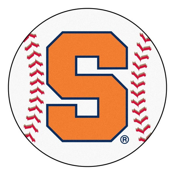 Shop NCAA Syracuse University Orange Baseball Shaped Mat