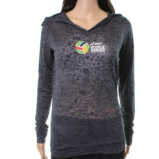 Asics NEW Gray Smoke Women's Size XS Burnout Beach Volleyball Hoodie