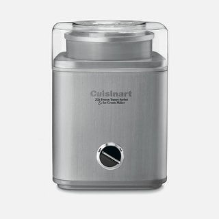 Cuisinart ICE-30BCFR Pure Indulgence 2 Quart Frozen Yogurt & Ice Cream Maker, Silver, Certified Refurbished