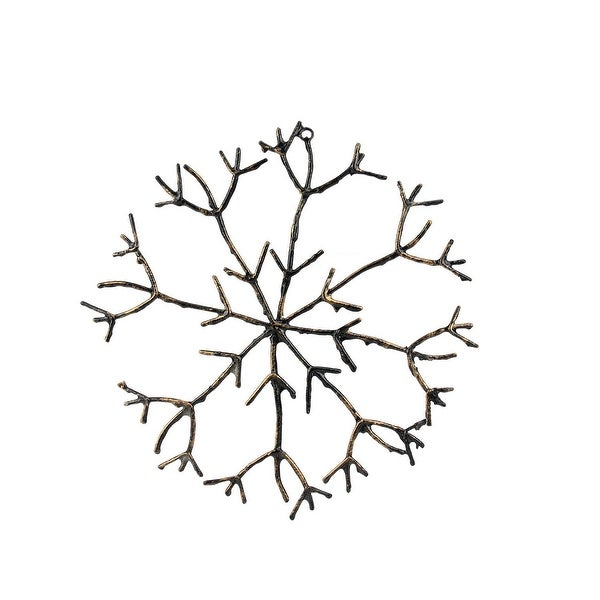 """16"""" In The Birches Glitter Twig Snowflake Christmas Ornament - brown"""