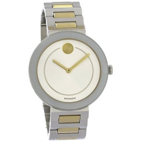 Movado Women's 3600548 'Bold' Two-Tone Stainless Steel Watch - Silver