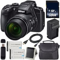 Nikon COOLPIX B700 Digital Camera (Certified Refurbished) + EN-EL23 Lithium Ion Battery + Charger + 128GB Card + Case Bundle