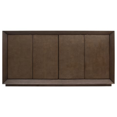 Edwards Leather Cabinet - 72W x 18D x 36H