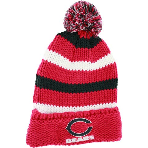 Ladies Chunky Stripe Chicago Bears Knit Hat