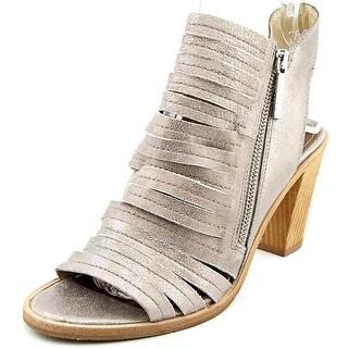 Donald J Pliner Kasia Women Open Toe Suede Silver Sandals