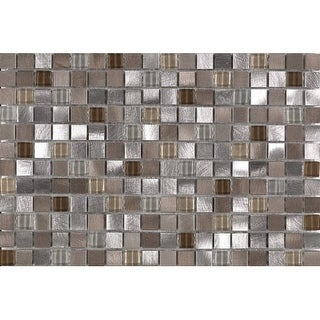 Mohawk Industries 16536 Pewter Multi-Surface Tile - 0.625 Inch X 0.625 Inch (Sol