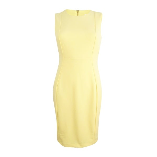 c666cc7f1f9ca Shop Calvin Klein Women s Petite Scuba Crepe Sheath Dress - On Sale ...