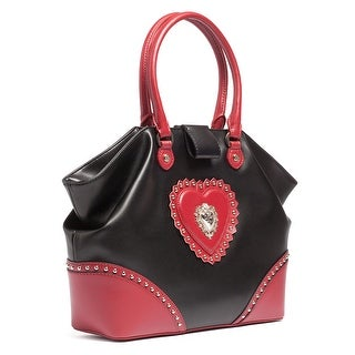 Moschino JC4154 100B Black/Red Satchel/Shoulder Bag - 14-12-5