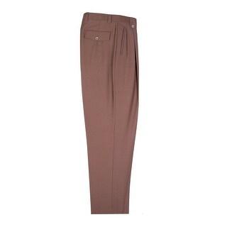 Tiglio Tobacco Wide Leg, Pure Wool Dress Pants 2576