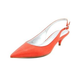 Tahari Faye Women Pointed Toe Leather Pink Slingback Heel