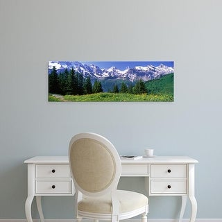 Easy Art Prints Panoramic Images's 'Murren Switzerland' Premium Canvas Art
