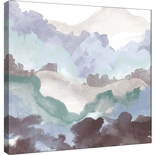 "PTM Images 9-100487  PTM Canvas Collection 12"" x 12"" - ""Layers of Winter A"" Giclee Mountains Art Print on Canvas"