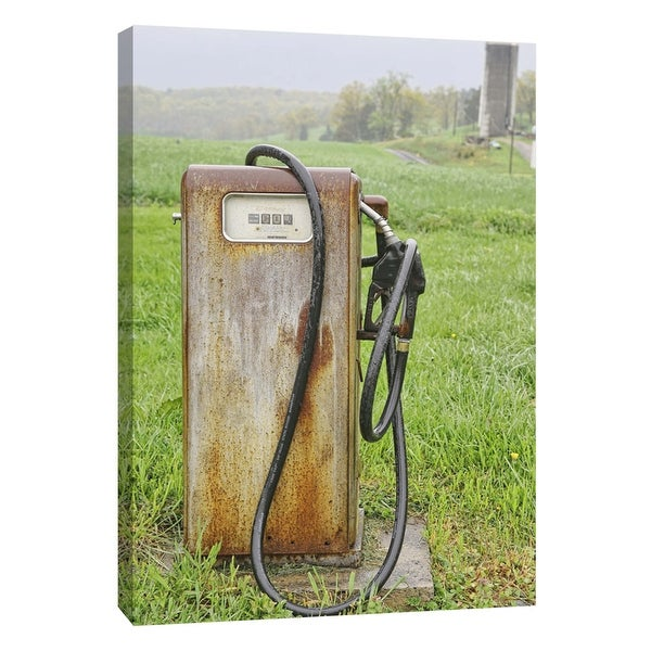 """PTM Images 9-105969 PTM Canvas Collection 10"""" x 8"""" - """"Vintage Gas Pump"""" Giclee Rural Art Print on Canvas"""