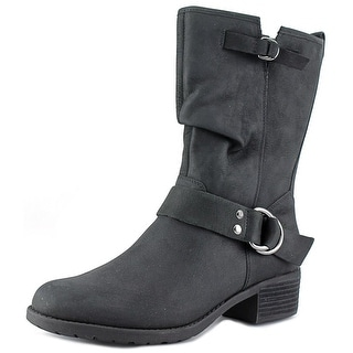 Hush Puppies Emelee Overton W Round Toe Leather Mid Calf Boot