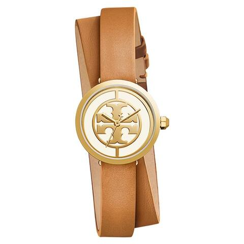 Tory Burch Reva Double wrap Watch, Luggage, 28 Mm - One Size