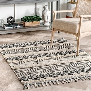 Link to The Curated Nomad Morris Shaggy Banded Tribal Area Rug Similar Items in Rugs