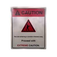 """19 x 16"""" Caution Extreme Sign Halloween Prop Indoor & Outdoor"""
