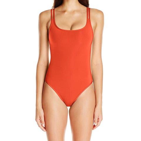 Jets by Jessika Allen Deep Red Womens Size 8 One-Piece Swimwear