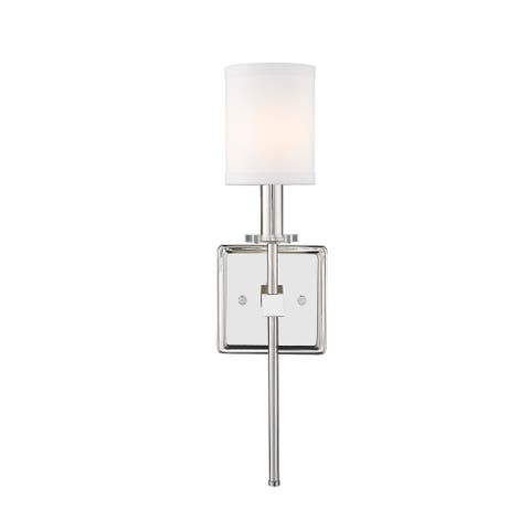 Glam 1-Light Wall Sconce with Modern Shade in Polished Nickel