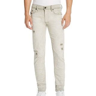 Diesel NEW Gray Mens Size 32X32 Slim Fit Carrot Distressed Jeans