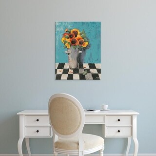 Easy Art Prints Jade Reynolds's 'Bright Sunflowers' Premium Canvas Art