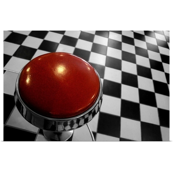 """""""The classic interior decor style of a Californian diner."""" Poster Print"""