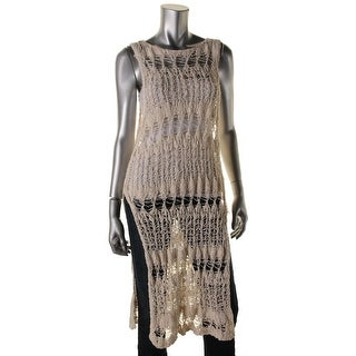 Free People Womens Cover-Up Open Stitch Tunic Top