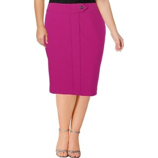 Nine West Womens Plus A-Line Skirt Knee-Length Office Wear