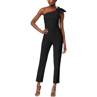 Adrianna Papell Womens Jumpsuit One Shoulder Bow - 14