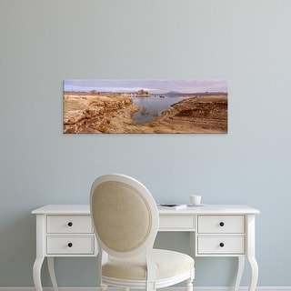 Easy Art Prints Panoramic Images's 'Lake surrounded by rocks, Lake Powell, Arizona, USA' Premium Canvas Art