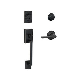 Schlage F62-CEN-LAT Century Double Cylinder Handleset with Latitude Interior Lever from the F-Series
