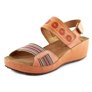 L'Artiste Bazooka Women Open Toe Leather Wedge Sandal