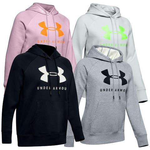Under Armour Women's UA Rival Fleece Sportstyle Graphic Loose Hoodie