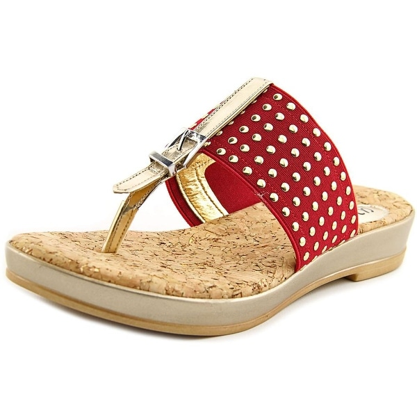 Love and Liberty Marlo Women Open Toe Canvas Slides Sandal