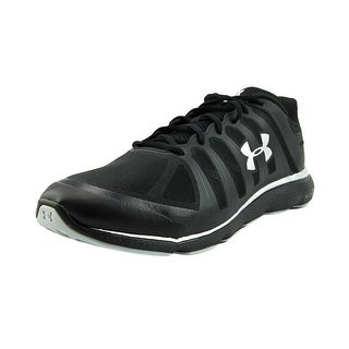 Under Armour Ua W Micro G Pulse II 4E Men Round Toe Synthetic Black Running Shoe