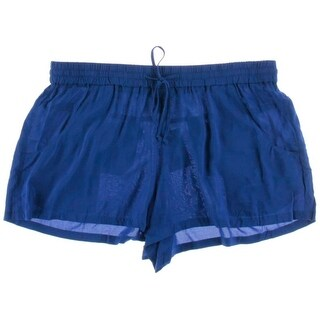French Connection Womens Solid Flat Front Casual Shorts - 10