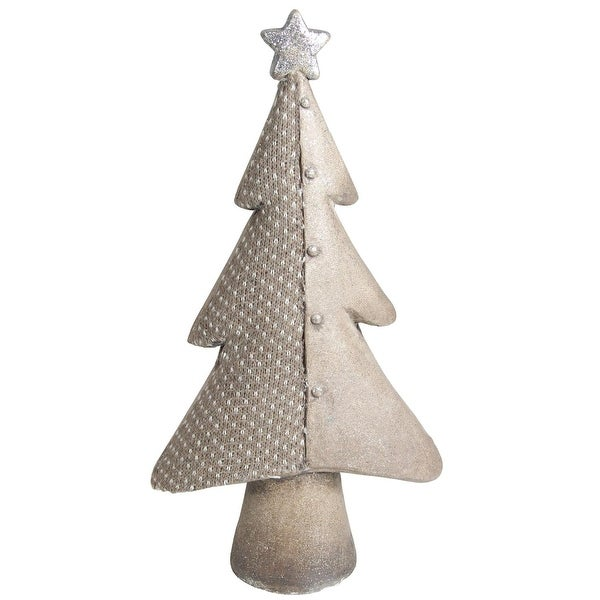 "15"" Brown Textured Eco-Friendly Christmas Table Top Tree"
