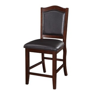 Wooden Armless High Chair, Espresso Brown & Black, Set of 2