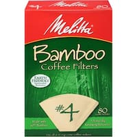 Melitta #4 Cone Bamboo Coffee Filters, 80 Count