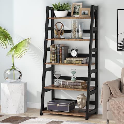 5-Tier Bookshelf Modern Bookcase, Etagere Display Shelves